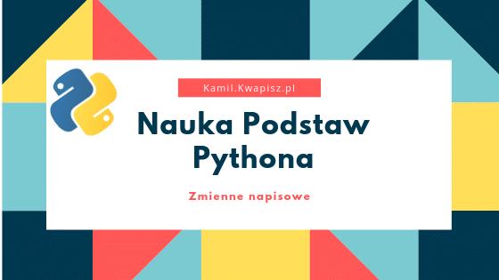 Nauka Podstaw Python String